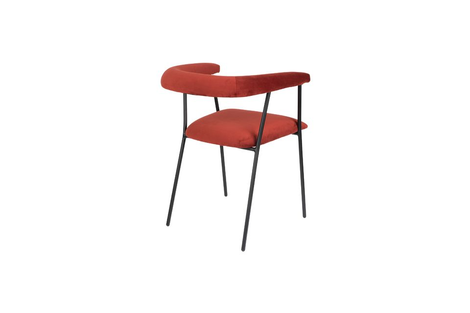 Haily Wine Red Armchair - 7
