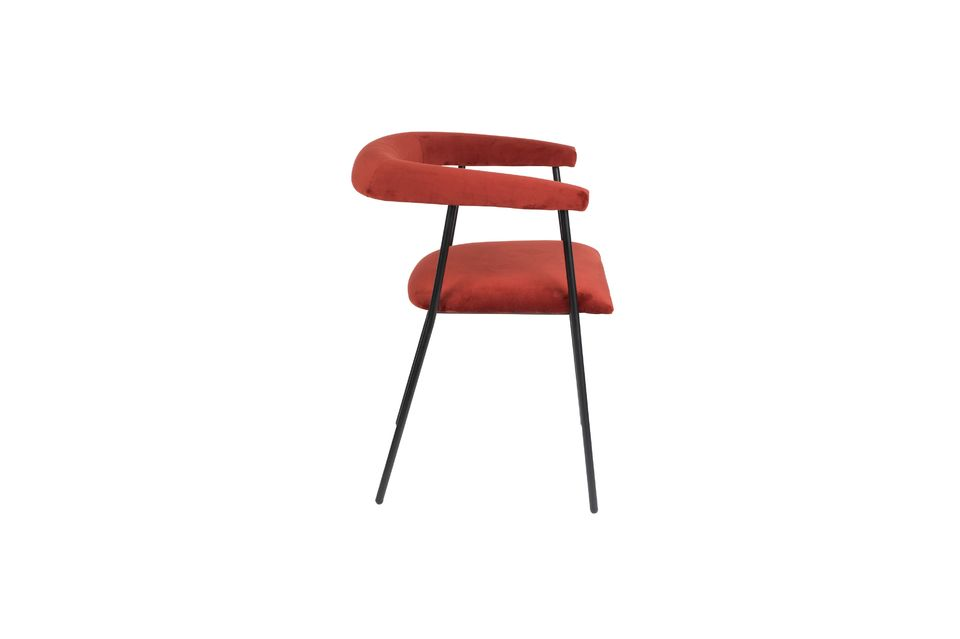 Haily Wine Red Armchair - 8