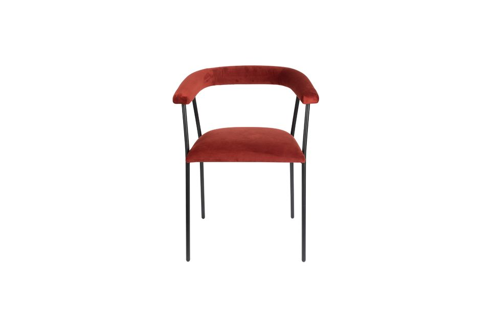 Haily Wine Red Armchair - 9