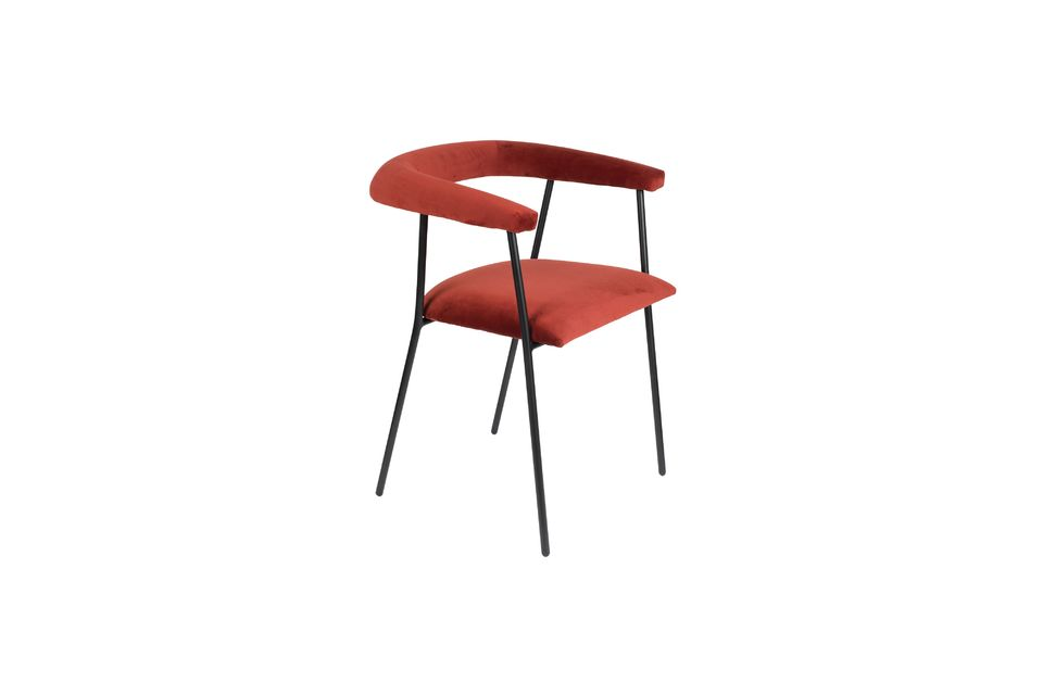 Haily Wine Red Armchair - 5