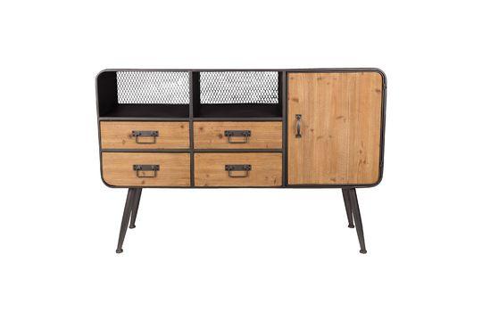 High Gin wood and metal sideboard