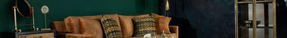 Material Details Houda Footrest caramel colour