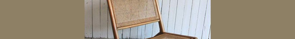 Material Details Husson armchair with wickerwork seat and backrest