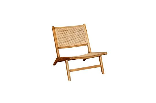 Husson armchair with wickerwork seat and backrest Clipped