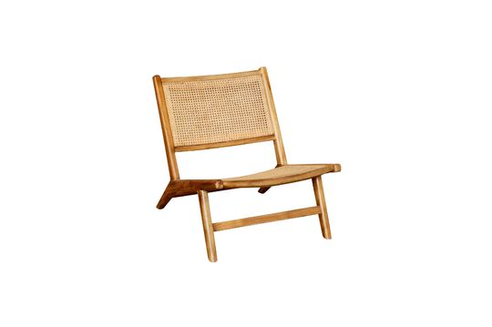 Husson armchair with wickerwork seat and backrest