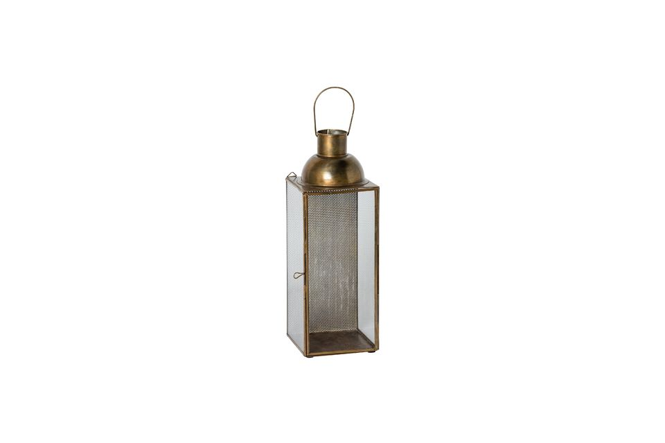 With this lantern, the light source becomes an integral part of the decoration of your home