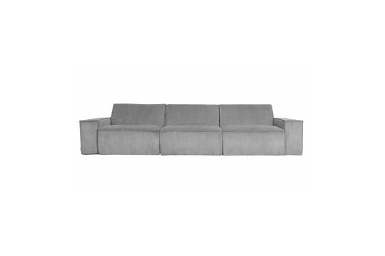 James 3-seater light grey corduroy sofa Clipped