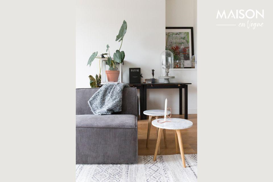 An elegant mixer sofa element