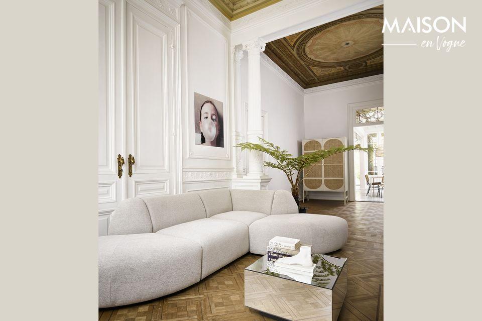 Small light grey sofa
