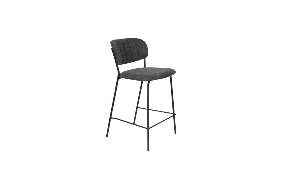 Jolien bar stool dark grey - 7