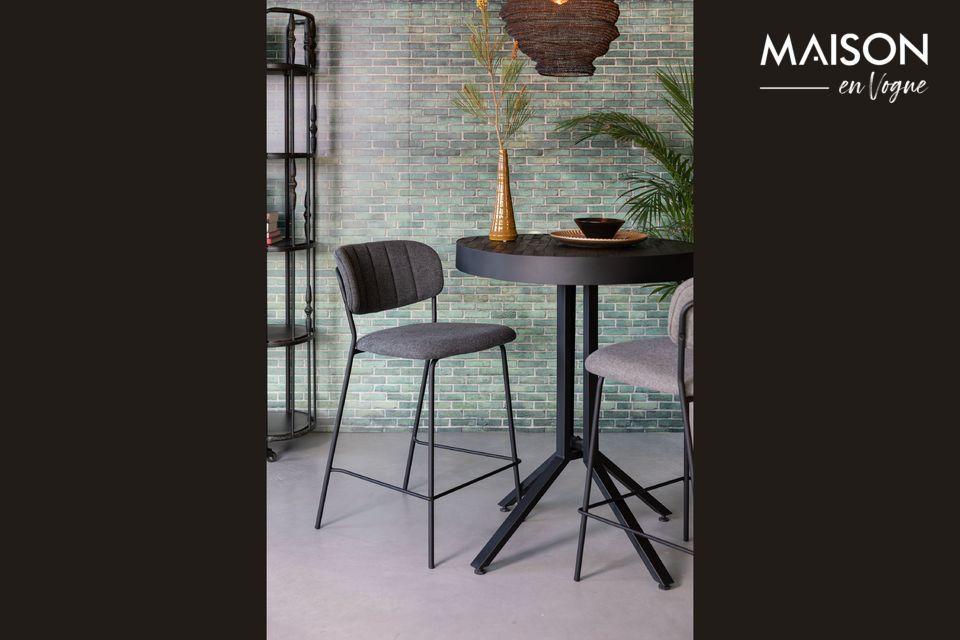 Jolien bar stool dark grey White Label
