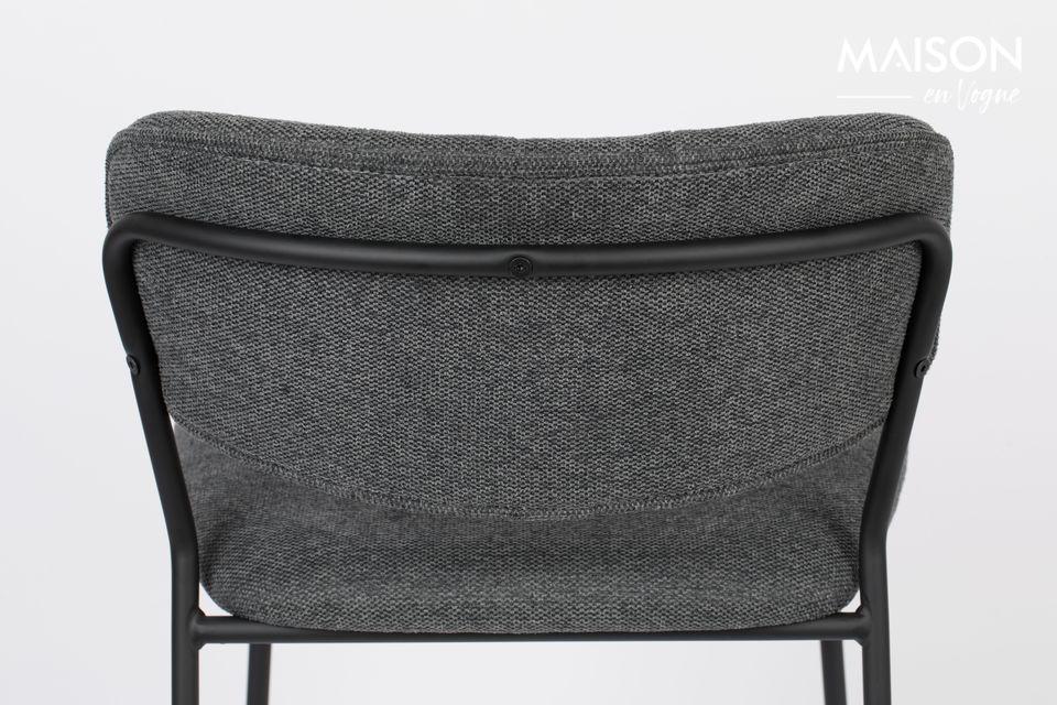 Jolien bar stool dark grey - 4
