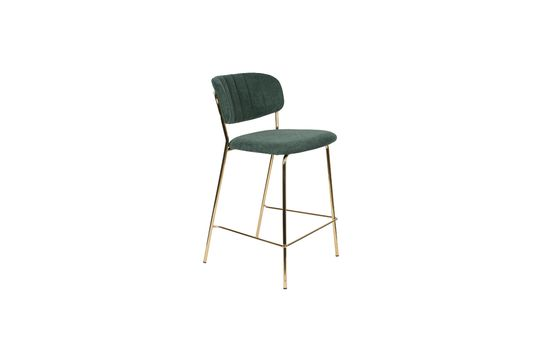 Jolien Counter Stool gold and dark green Clipped