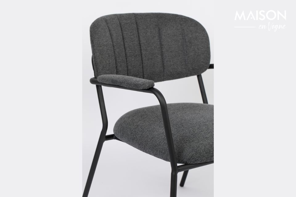 The Jolien lounge chair brings comfort and elegance to your living room! This low chair offers a