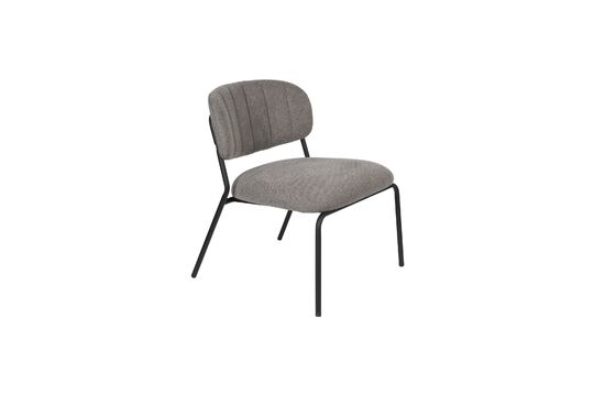 Jolien Lounge chair black and grey Clipped
