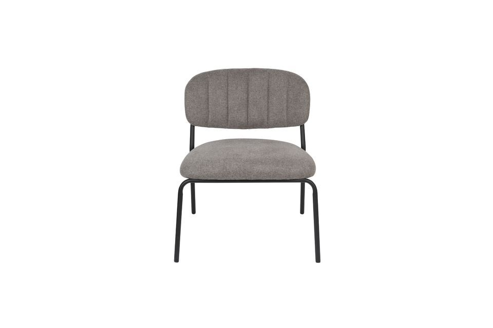 Jolien Lounge chair black and grey - 6
