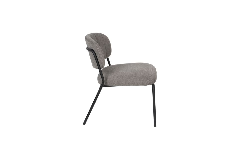 Jolien Lounge chair black and grey - 7