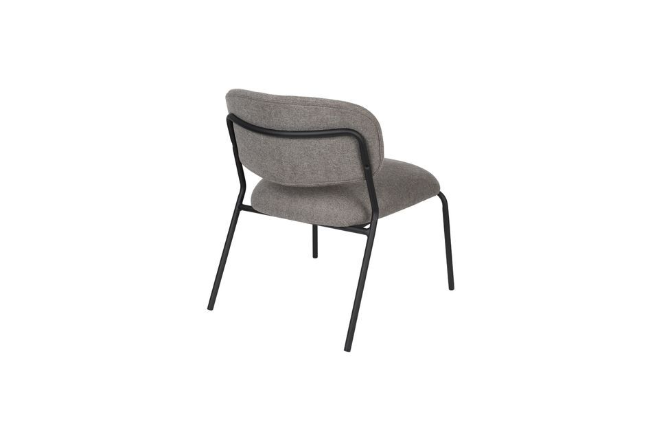 Jolien Lounge chair black and grey - 8