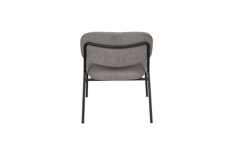 Jolien Lounge chair black and grey - 9