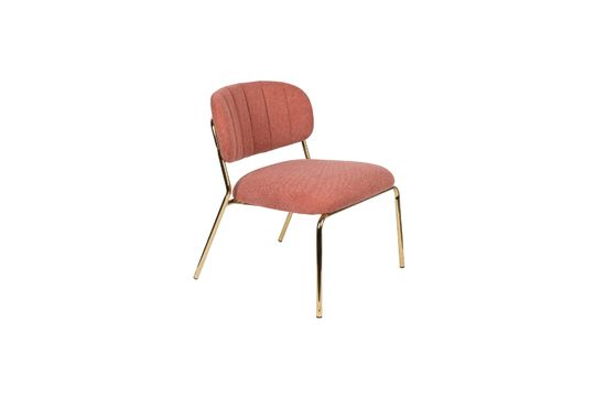 Jolien Lounge chair gold and pink Clipped