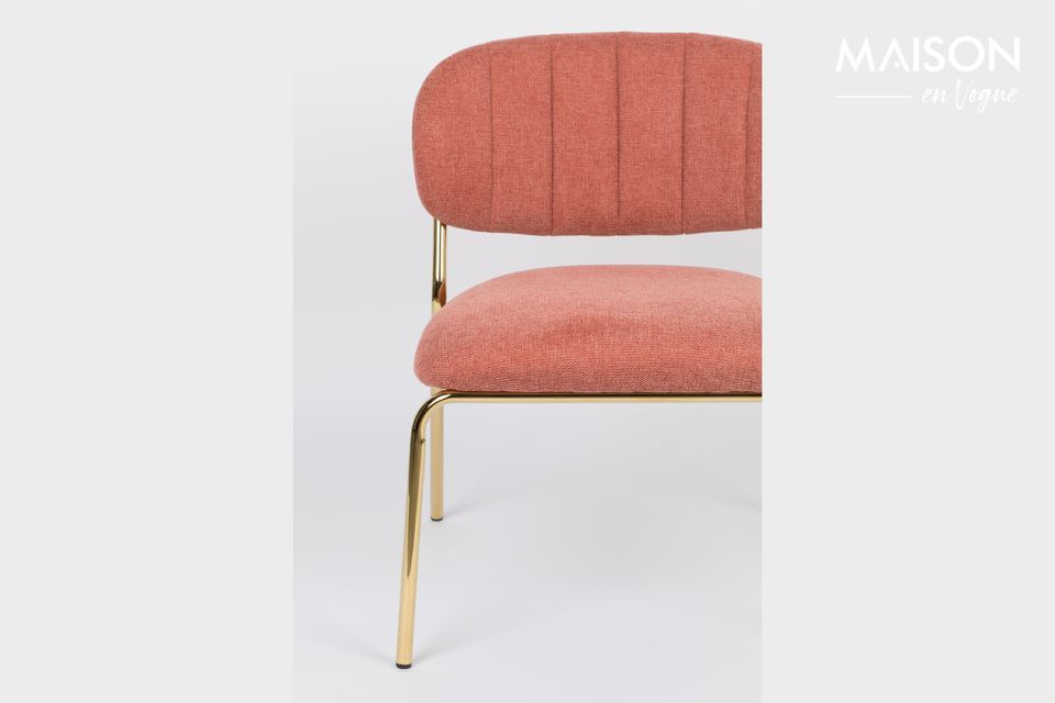 Pink and gold lounge style chair