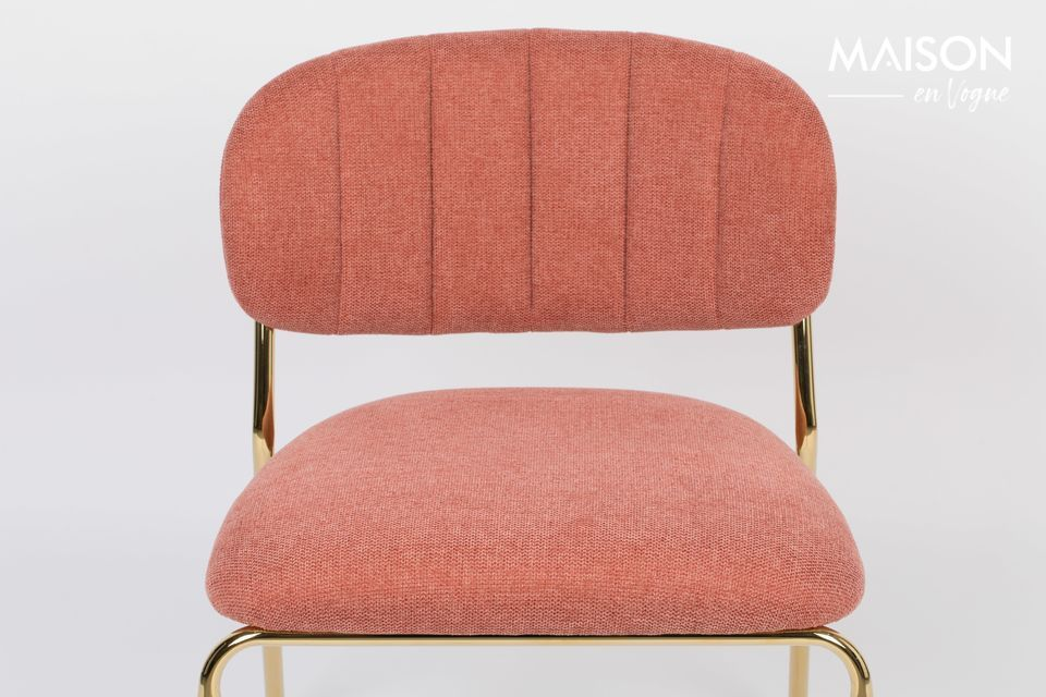 White label living proposes an elegant pink armchair on golden legs for a contemporary and refined