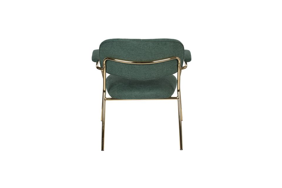 Jolien Lounge chair with gold and dark green armrests - 8