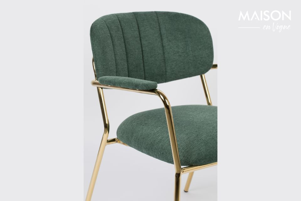 White label living proposes a pretty dark green lounge chair with golden legs of the most beautiful