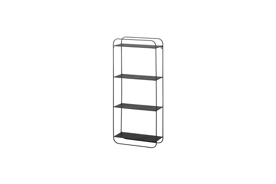 This black metal shelf