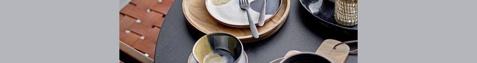 Material Details Jules multicoloured stoneware bowl