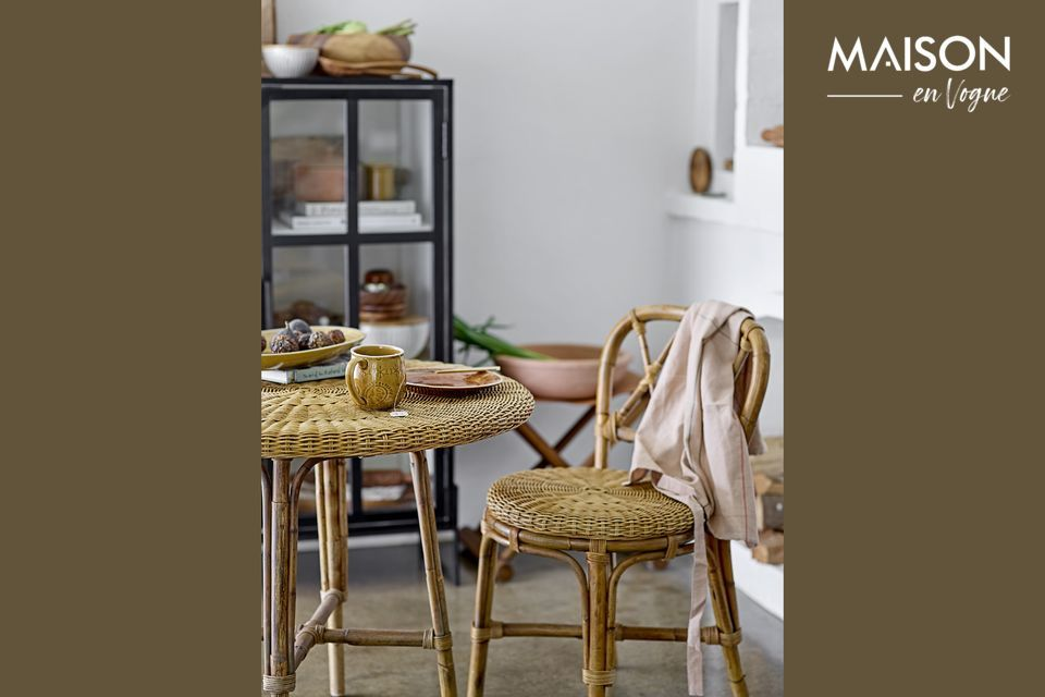 A rattan chair with a deliciously retro charm