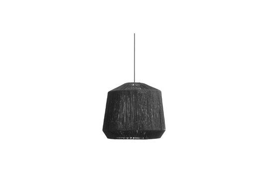 Jute black lampshade