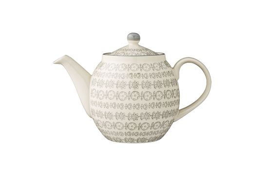 Karine Decorated stoneware teapot