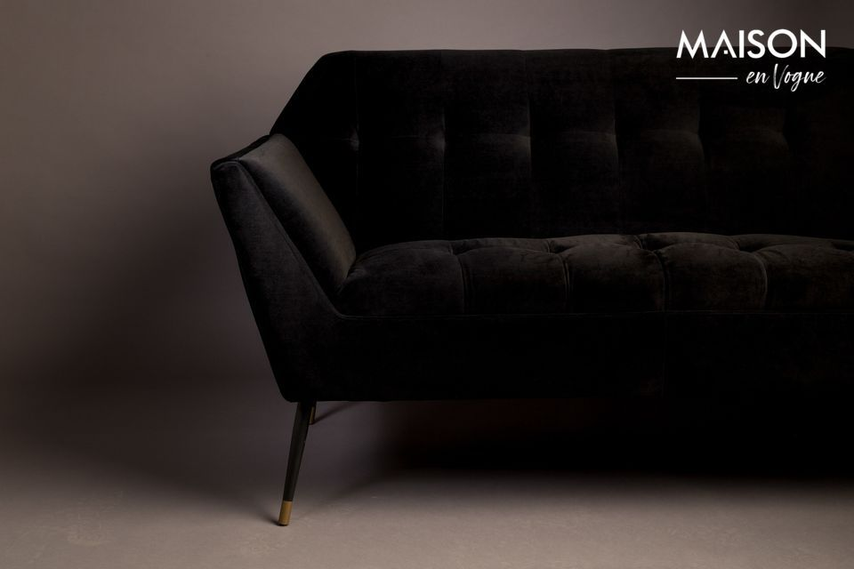 This small fixed two-seater sofa