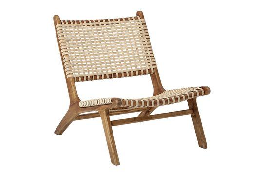 Keila teak lounge chair Clipped