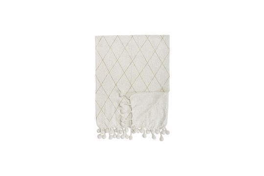 Laval Cotton Throw White Clipped