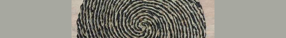 Material Details Laveyron spiral placemat in natural sea rush