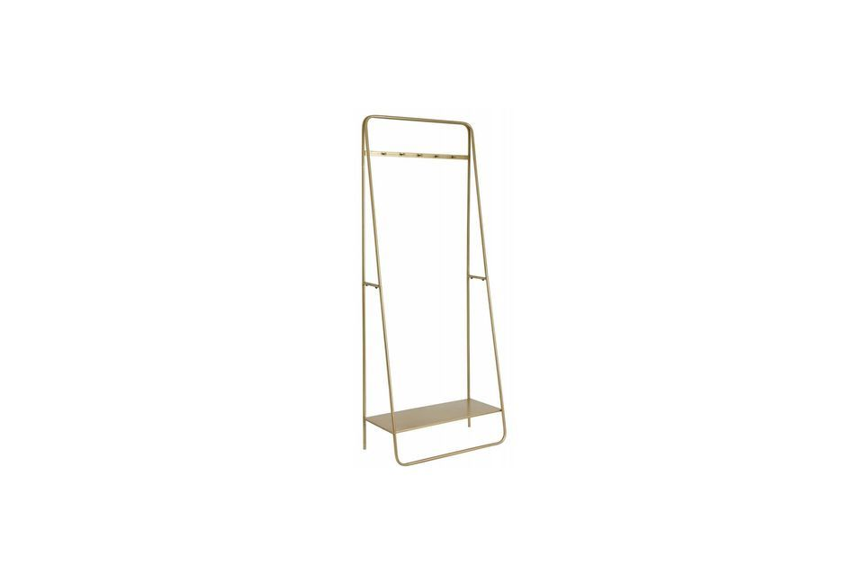 This refined coat rack has interesting dimensions: 75 cm by 38 cm for a height of 190 cm
