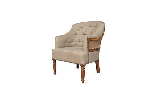 Linen and jute armchair Valbelle