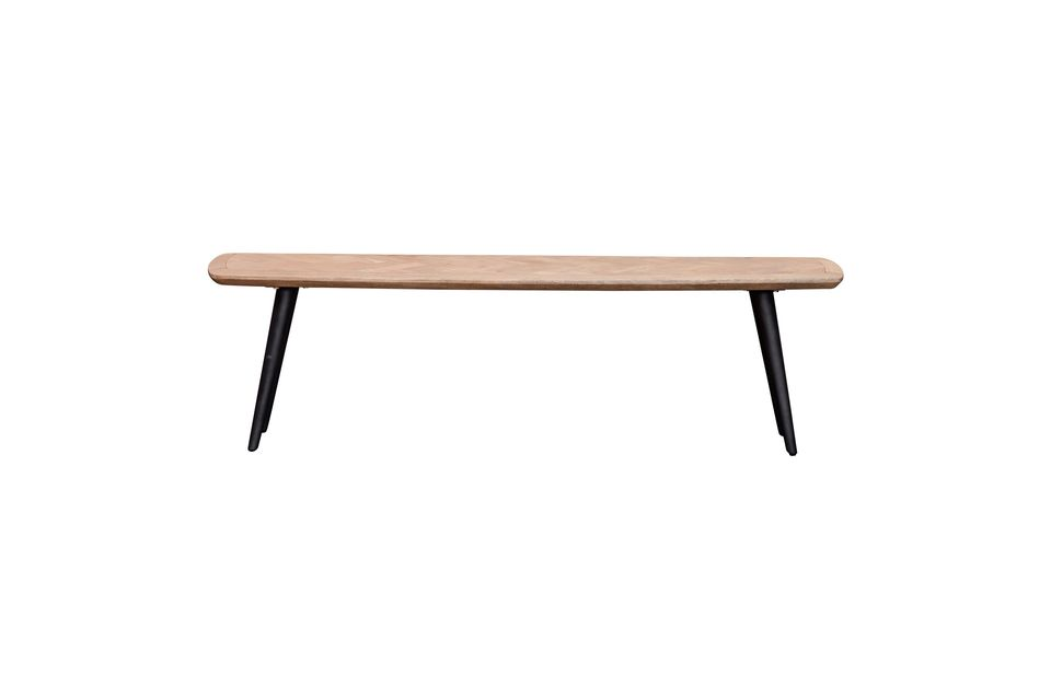 Opt for the companion style with the Loupiac bench signed by the furniture brand Chehoma