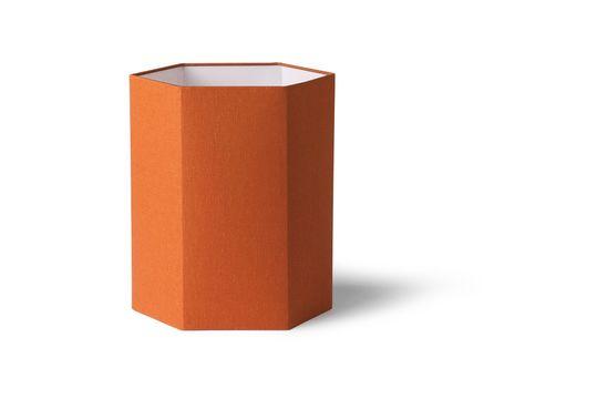 Maltat Hexagonal orange jute lampshade size M
