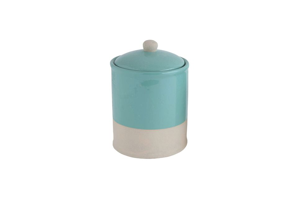 Mantet Jar with lid Blue Bloomingville