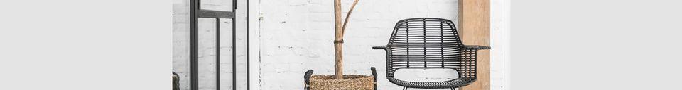 Material Details Marey armchair in natural rattan