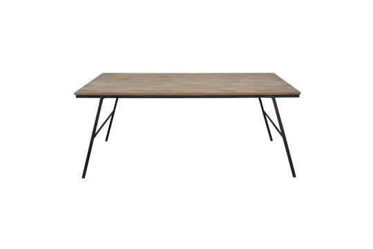 Market folding table in recycled teak