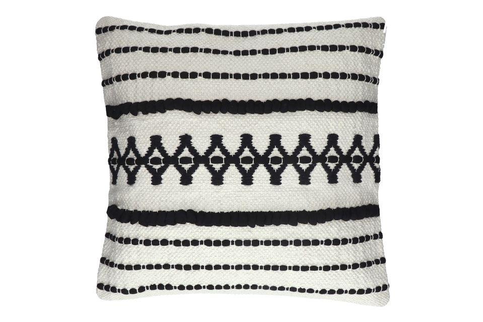 A cushion with an oriental design