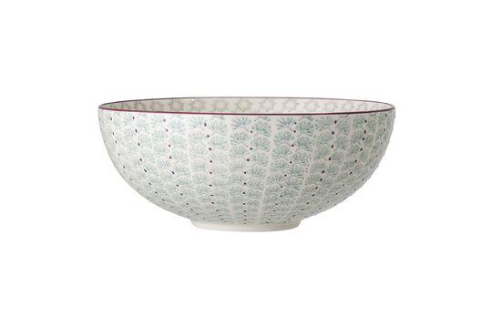Maya blue stoneware salad bowl