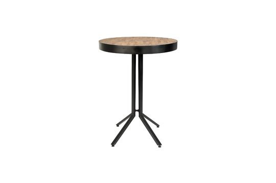 Maze Round bar table natural finish Clipped