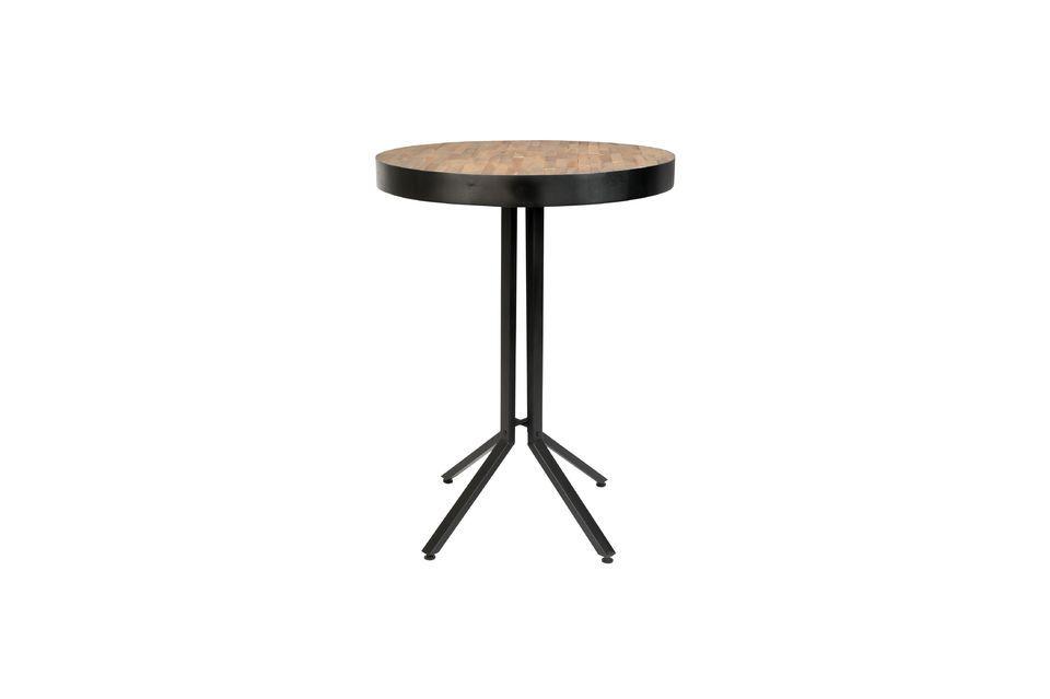 Maze Round bar table natural finish - 5