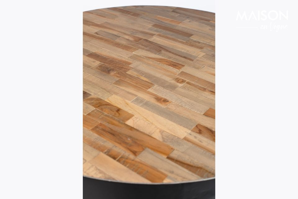 A modern bar table with natural notes