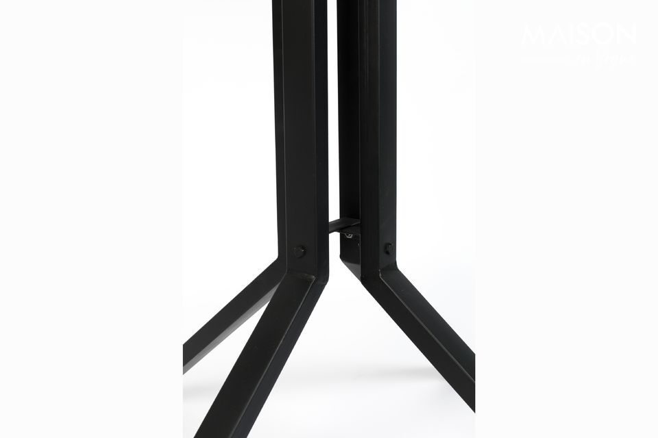 Versatile, this bar table can also be used as an occasional table or end of sofa